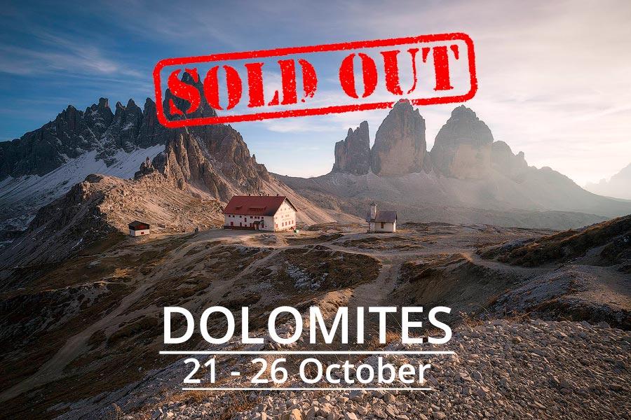 Dolomites Photography Tour 2019